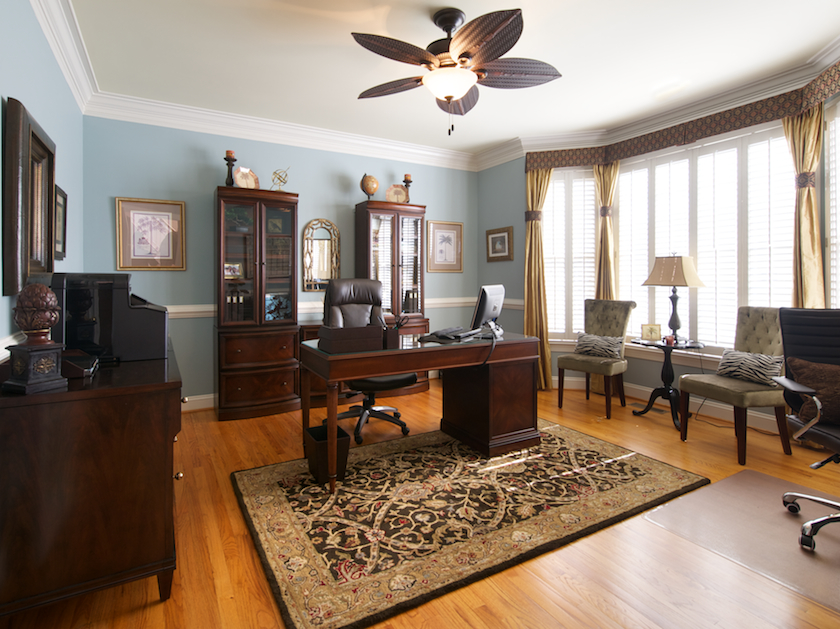 Transitional Home Office home office redesign and transitional girl's roomcreative
